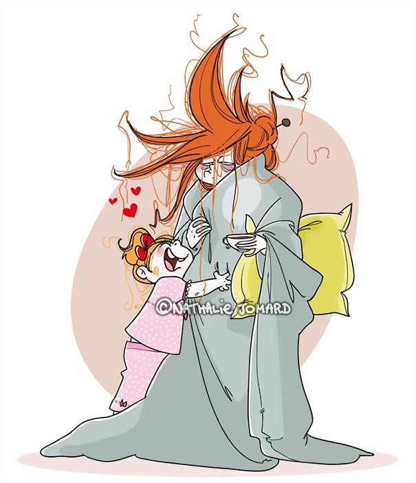 copil trezeste mama