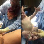 fetiță ajută la nașterea frățiorului ei